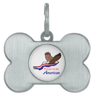 Proud To Be American Pet Tags