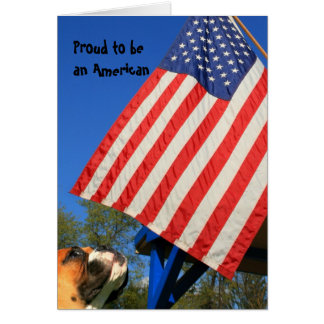 Proud to be an American Boxer notecard