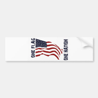 PROUD TO BE AN AMERICAN! BUMPER STICKER