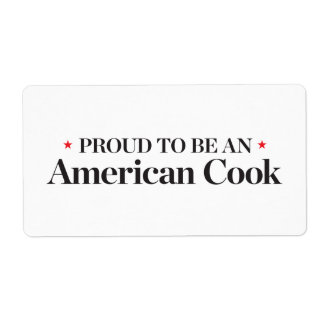 Proud to be an American Cook Shipping Label