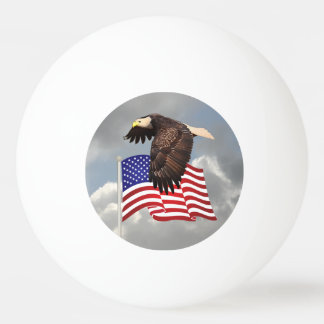 PROUD TO BE AN AMERICAN Ping-Pong BALL