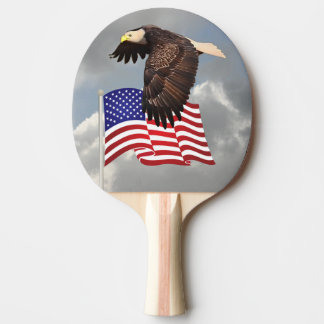 PROUD TO BE AN AMERICAN PING PONG PADDLE