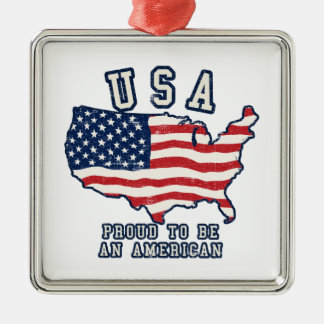 Proud to be an American Metal Ornament