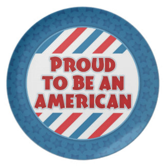 Proud to be an American Patriotic Plate