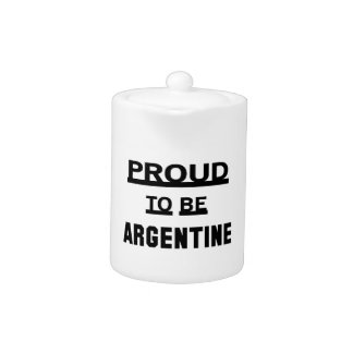 Proud to be Argentine.