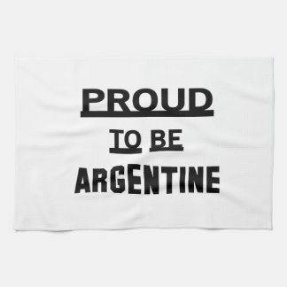 Proud to be Argentine. Towels