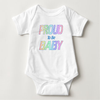 Proud To Be Baby, Soft Blue and Pink Colors Baby Bodysuit