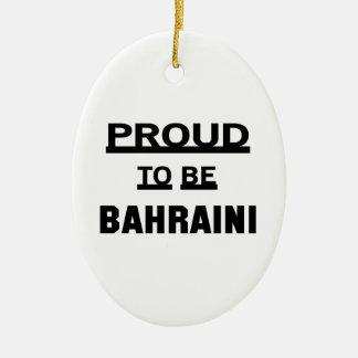 Proud to be Bahraini Ceramic Oval Ornament