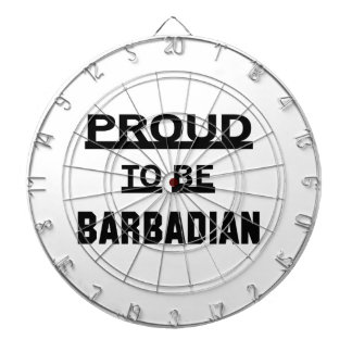 Proud to be Barbadian Dartboard With Darts