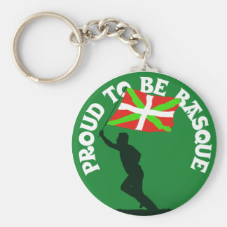 """""""Proud to be Basque"""" Keychain"""