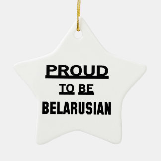 Proud to be Belarusian Ceramic Star Ornament