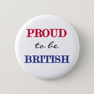 Proud To Be British 2 Inch Round Button