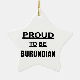 Proud to be Burundian Ceramic Star Ornament