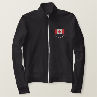 Proud to be Canadian track jacket grey