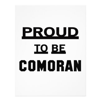 Proud to be Comoran. Personalized Letterhead