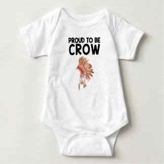 Proud To Be Crow Native American Baby Bodysuit