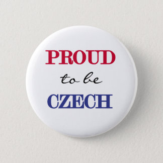 Proud To Be Czech 2 Inch Round Button