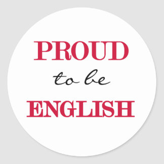 Proud To Be English Round Sticker