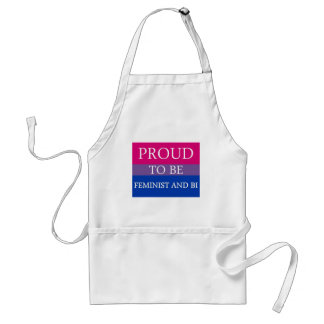 Proud to Be Feminist and Bi Standard Apron