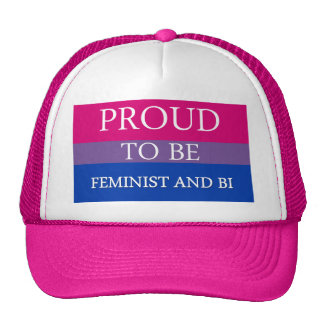 Proud to Be Feminist and Bi Trucker Hat