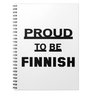 Proud to be Finnish Note Books