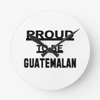 Proud to be Guatemalan Clocks