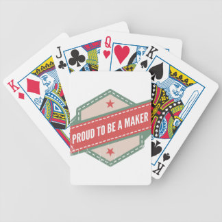 Proud to Be has Maker vintage logo Bicycle Playing Cards