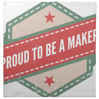 Proud to Be has Maker vintage logo Napkin