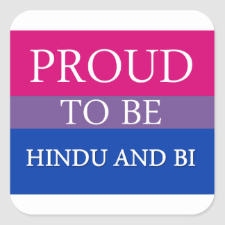 Proud To Be Hindu and Bi Square Sticker