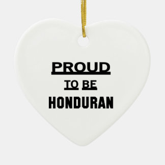 Proud to be Honduran Ceramic Heart Ornament