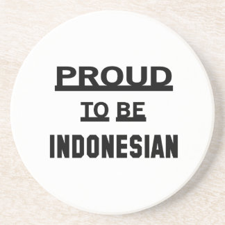Proud to be Indonesian Beverage Coaster