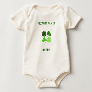 PROUD TO BE, IRISH! BABY BODYSUIT