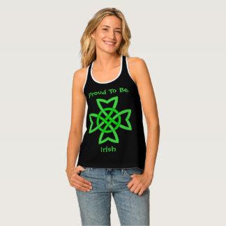 Proud To Be Irish Green Celtic Knot Design Tank Top