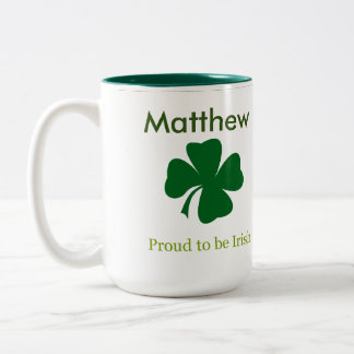 Proud to be Irish Personalized Coffee Mug