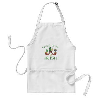 Proud to be Irish Pipes and Green Hat Standard Apron