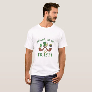 Proud to be Irish Pipes and Green Hat T-Shirt