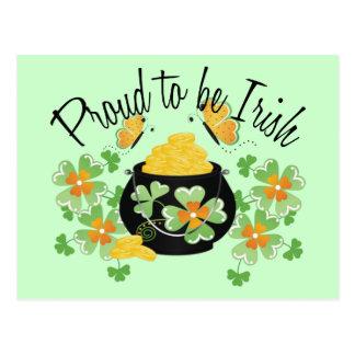 Proud To Be Irish Pot of Gold Postcard