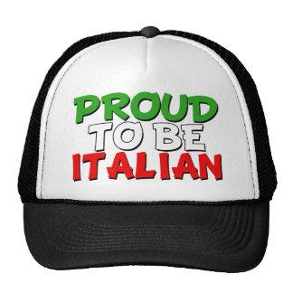 Proud to be Italian trucker hat funny