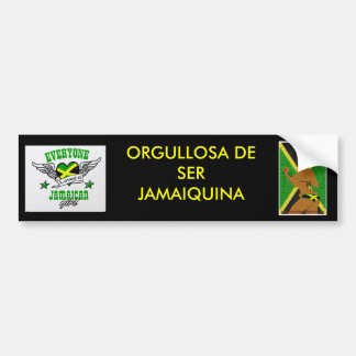 Proud To Be Jamaican (Spanish Style) Bumper Sticker