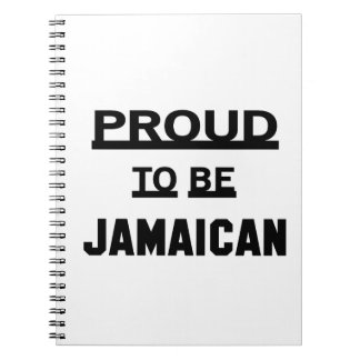 Proud to be Jamaican Spiral Note Books