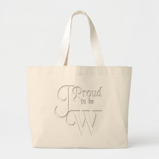 Proud to be Jehovah's Witness Jumbo Tote Bag