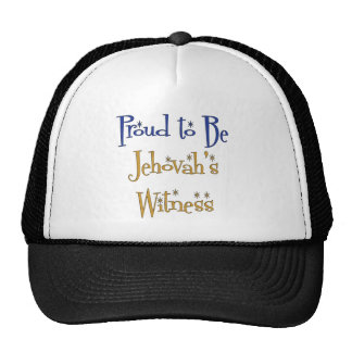 Proud to be Jehovah's Witness Hats
