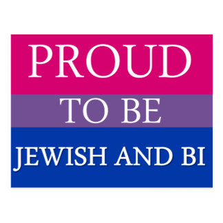 Proud To Be Jewish and Bi Postcard