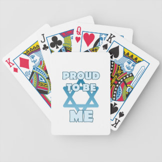 Proud To Be Jewish Bicycle Playing Cards