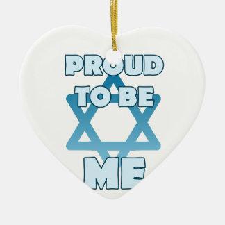 Proud To Be Jewish Ceramic Ornament