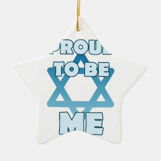 Proud To Be Jewish Ceramic Ornament