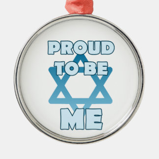 Proud To Be Jewish Metal Ornament
