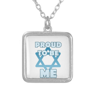 Proud To Be Jewish Silver Plated Necklace