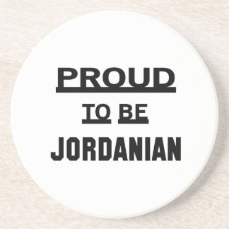 Proud to be Jordanian Drink Coasters