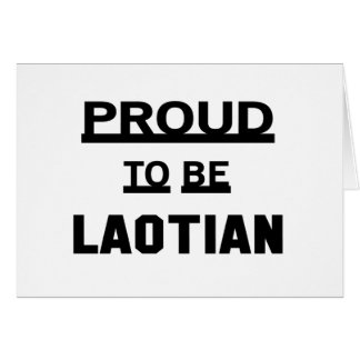 Proud to be Laotian Card